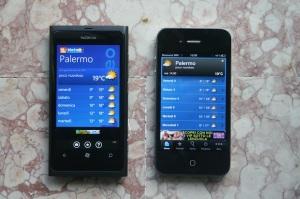 """Nokia Lumia 800 e Apple iPhone 4: app """"il Meteo"""""""